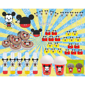 Kit Festa Infantil Menino Mickey Vintage 143 Peças