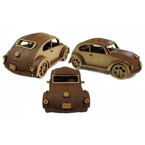 Fusca Carro Miniatura Brinquedo Relíquia Carro Antigo Mdf