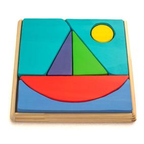 Rompecabezas Montessori De Madera Barco Local En Belgrano