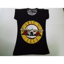 Blusa Dama C/ Encaje,guns And Roses, Unitalla