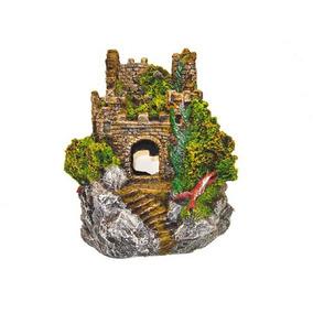 Enfeite Para Aquário Castelo Medieval Ii E09