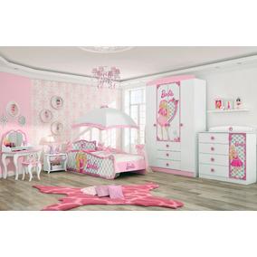 Quarto Completo Barbie Star Branco E Rosa Pura Magia