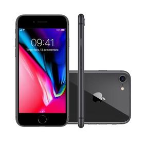 Iphone 8 4.7 Pol, Câmera 12mp + Frontal 7mp 64gb Cinza