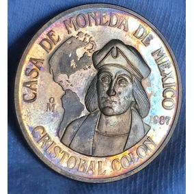 Medalla Casa De Moneda Anv Cristobal Colon Bronce Excelente