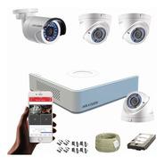 Cámaras De Seguridad Kit Hikvision 1080p Mini Dvr 8ch + 4cám