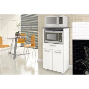 Balcão Cozinha 2 Microondas * Promoção* B2 Branco Linho