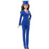 Muñeca Barbie Quiero Ser Piloto De Avion Castaña Mattel