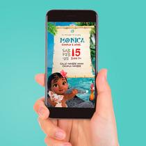 Vídeo Invitación Digital Baby Moana - Ahorra Tiempo Y Dinero