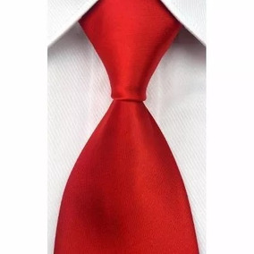 Gravatas Slim Seda Sport, Importada Vermelha