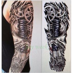 Tatuagem Temporaria, Tatuagem 3d, Tatuagem Robô Braço Grande