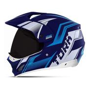 Capacete Motocross Pro Tork Th-1 New Adventure Viseira Fumê