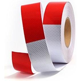 Rojo Blanco Honeycombo Cinta Reflectante 2 -inch X50