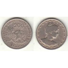 Linda Moeda De 200 Reis (mcmi) 1901