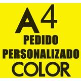 Impresión Láser Color Pdf D/faz A4 Anillado Tapa Contratapa