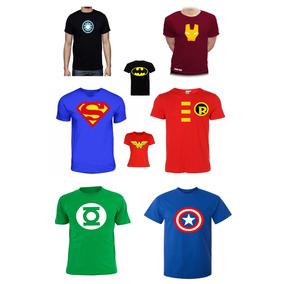 Playeras De Remate Superheroes Logos Todas Tallas!