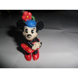Minnie Mickey Mouse Antiguo Muñequito Disney Sellado Goma