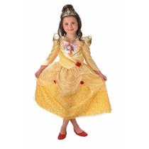 Disfraz Princesa Bella Talle M 5-6 Años Original Disney