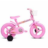 Bicicleta Bike Infantil Aro 12 Fofys Rosa Verden Menina