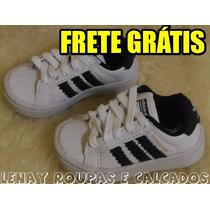 Tênis Adidas Superstar Infantil Bebê Unissex - Tam 18 Ao 24