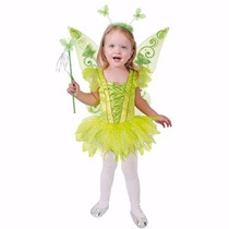Disfraces Disfraz Carnavalito Campanita Timkerbell Talla 10
