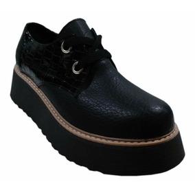 Zapato Cerrado De Mujer Con Plataforma Cordon Pretemp 2018