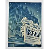 Antiguo Programa Cine Teatro Regio Buenos Aires Año 1949