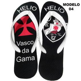 f3f8400eabfc4 Chinelo Personalizado Vasco Da Gama - Coloque Seu Nome