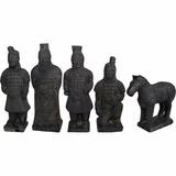 Guerreiro Terracota Xian Caixa Exercito Decoração Escultura