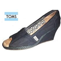 Remato Zapatos Dama Tacón Wedge Toms Originales ~ #1336