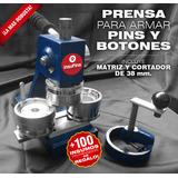 Maquina Prensa C/matriz 38 Mm. + Cortador + 100 Pins Regalo