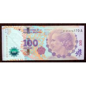 Billete 100 Pesos 2012 Reposición Eva Perón Excelente Vf+