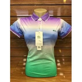 Camisa Polo Femenina L.c.s.t Degrade Tricolor