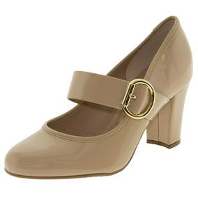 Sapato Feminino Salto Alto Bege Beira Rio - 4143218