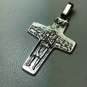 Cruz Del Buen Pastor O Del Papa Francisco Plata 925 Garant.