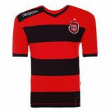 Camisa Brasil De Pelotas Oficial Listrada Branca Vermelha