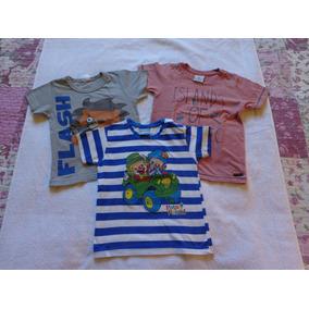 Kit De Camisetas Menino Infantil (3) Três Peças Usadas