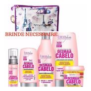 Desmaia Cabelo Kit Shampoo Cond  Leavein Serum Forever