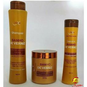Kit Banho De Verniz Naxos Shampoo+mascara+leave-in