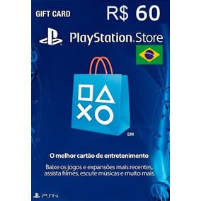 Cartão Psn R$ 60 Reais Brasil Playstation Brasileira Br