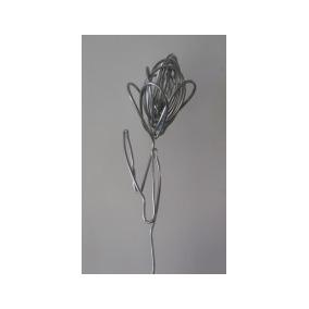 Flor Tulipa Em Alumínio