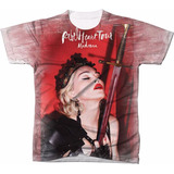 Camisa Camiseta Personalizada Rebel Heart Tour Madonna 50