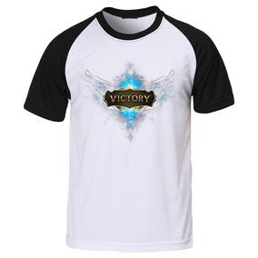 Camisa Camiseta Raglan Geek Lol League Of Legends Game