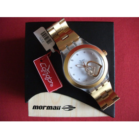 Relógio Mormaii Condor New Age Dourado Sem Uso