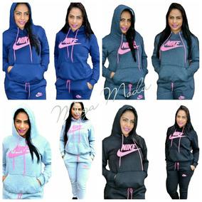 Conjunto Moletom Nike Feminino Com Capuz Moleton Casaco Calc