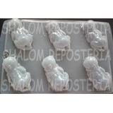 *molde Mediano Gomitas Jabon Gelatina 6 Bebes 3d Baby Shower