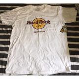 Camiseta Hard Rock Cafe - Santiago De Chile (talla L Large)