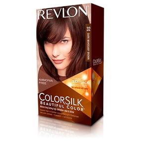 Tintura Revlon Colorsilk 3d Tono 32 Castaño Caoba 3 Unidades