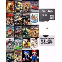 Cartão Memória 16gb Psp + Patchs De Jogos