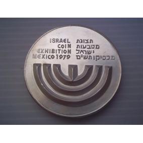 Israel Medalla 1979 Plata 925 Exhibición Moneda Banco México