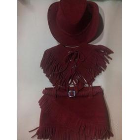 Roupa Fantasia Country Completa Saia + Chapéu + Colete